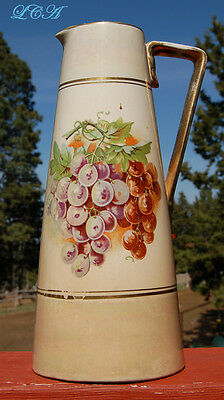 Antique - JAFFE & Co SALOON SEATTLE WASH - ceramic advertising pitcher
