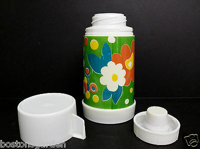RARE Vintage 1970's Flower Power Aladdin Floral Lunchbox Cooler Thermos,COMPLETE
