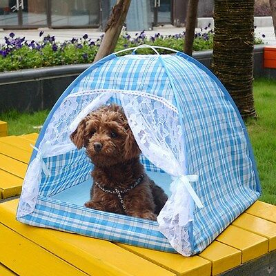 New Pet Dog Cat Tent Puppy Detachable House Portable Outdoor Kennel With Mat