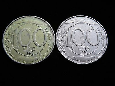 Two Nice 1994 Italy 100 Lire Coins 1978 & 1979 Lot 18935