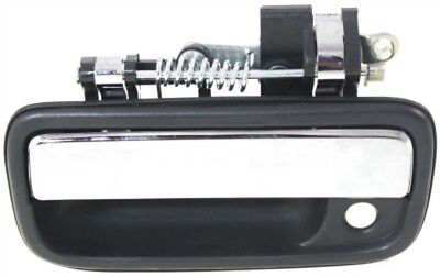 Front Driver Side Black w/ Chrome Exterior Door Handle for 95-04 Toyota Tacoma