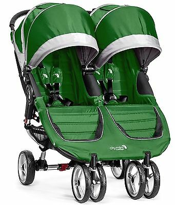 Baby Jogger City Mini Double Twin Stroller Evergreen / Gray NEW 2016