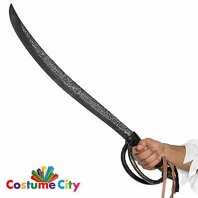 Adults Deluxe Prop Aged Pirate Cutlass Sword Fancy Dress Party Costume Accessory