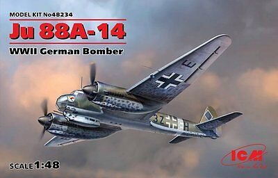 ICM 48234 - 1/48 WWII Dt. BOMBER JUNKERS JU 88A-14 - NEU