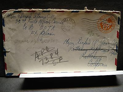 APO 7384 FORT BELVOIR, VIRGINIA WWII Army Cover 1944 32nd FIELD OFFICER's Course