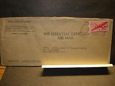 APO 962 HANAPEPE, KAUAI, HAWAII WWII ESSENTIAL Official Army Cover 1944 SFPE