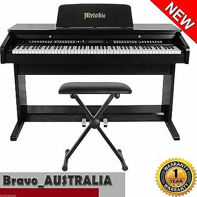 Digital Piano 100 Rhythms 88 Standard Keys 3 Pedals w/ Adjustable Stool Set