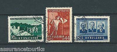 BULGARIE - 1954 YT 803 à 805 - TIMBRES OBL. / USED