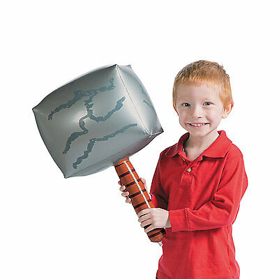"""19"""" Inflatable Thor Thor's Hammer Weapon Kids Novelty Party Fancy Dress Toy Gift"""