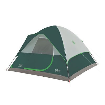 Coleman WeatherTec Maumee 8 Person Dome Camping Tent + Carry Bag 12' x 11' x 6'