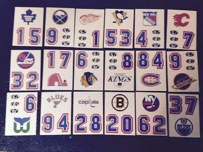 1985-86 Topps Helmet Hockey Sticker Inserts Select From List See Scan Team Logos