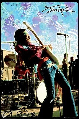 JIMI HENDRIX ~ LIVE ON STAGE 24x36 MUSIC POSTER Guitar NEW/ROLLED!