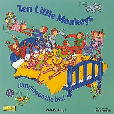 Ten Little Monkeys Jumping on the Bed (Classic Books With Holes) New Board book