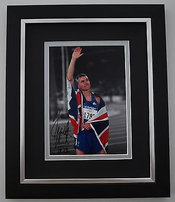 Jonathan Edwards SIGNED 10X8 FRAMED Photo Autograph Display Olympics Triple Jump
