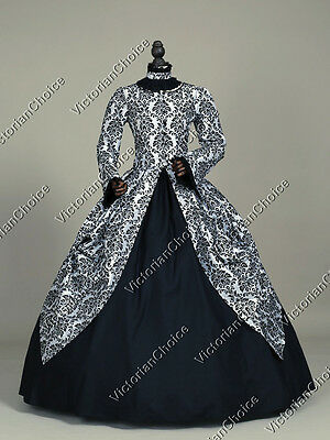 Victorian Period Dress Princess Gothic Theater Punk Reenactment Costume 156