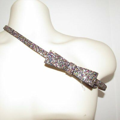 NWT Express Multi Color Glitter bow Belt Size Small $19.99