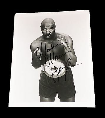 Marvelous Marvin Hagler Hand Signed Autographed 8X10 Boxing Photo With Coa