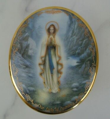 """Visions of Our Lady by Hector Garrido """"Our Lady of Lourdes"""" Music box 1994"""