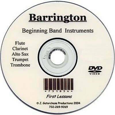 Band Learn To Play Teaching Lesson  Dvd Alto Sax Flute Clarinet Trumpet Trombone