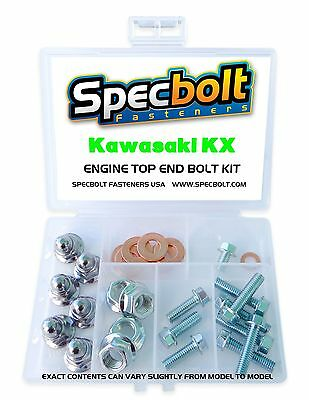 KAWASAKI KX ENGINE BOLT NUT KIT TOP END 65 80 85 125 250 500 Cylinder Head Reed