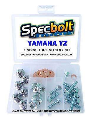 SPECBOLT YAMAHA YZ ENGINE BOLT NUT KIT TOP END 80 85 125 250 Cylinder Head Reeds