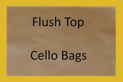 Flush Top Clear Cello Display Bags - Cellophane Display Bag for Cards or Arts