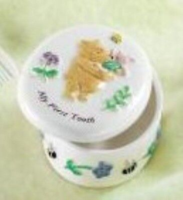Winnie the Pooh My First Tooth China Trinket Box 7554