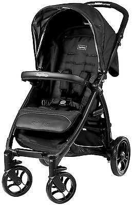 Peg Perego Booklet Easy Close Compact Fold Single Baby Stroller Onyx NEW
