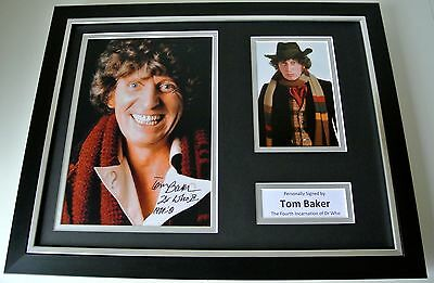 Tom Baker SIGNED FRAMED Photo Autograph 16x12 display Doctor Dr Who TV & COA