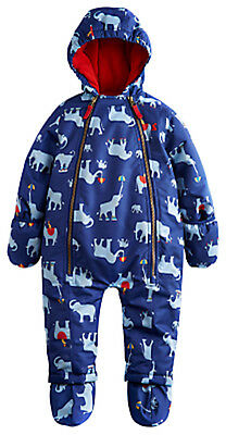 JOULES Baby Charlie Welly Elephant Snowsuit Warm All in One  0-3m FreeUKP&P