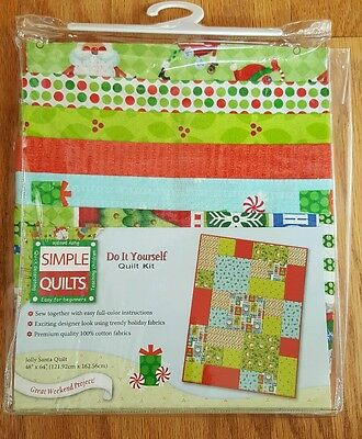 Beginners sewing kit 1543 picclick simple quilts do it yourself quilt kit jolly santa quilt solutioingenieria Images