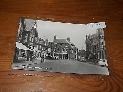 Old  postcard our ref #52772 HIGH STREET OAKHAM RP