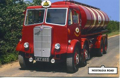 AEC Mammoth Major Jet Petroleum Tanker lorry unused Nostalgia Road postcard