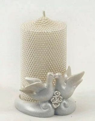 Wedding Favour Love Doves Holder with decorative candle NEW 13028