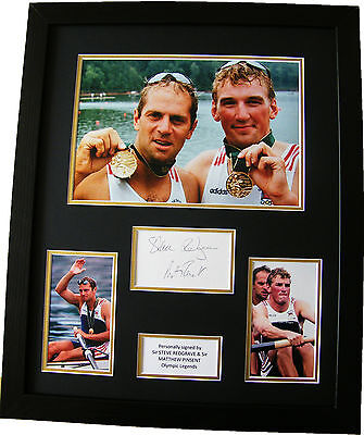 Steve Redgrave & Matthew Pinsent Signed & Framed Autograph Photo Mount Olympics