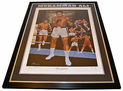 Muhammad Ali Signed & Framed Autograph Display Certified Online Authentics Proof