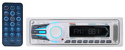 Boss MR1308BUA Single-Din Marine Receiver w. Bluetooth, AM/FM, Aux, SD + Remote