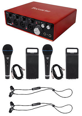 Focusrite SCARLETT 18I8 2nd 192kHz USB Audio Recording Interface+Mics+Earbuds