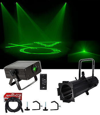 Chauvet DJ EVE E-100Z White Ellipsoidal LED DMX Gobo Projector Spot Light+Laser
