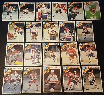 1978-79 OPC WASHINGTON CAPITALS Select from LIST NHL HOCKEY CARDS O-PEE-CHEE
