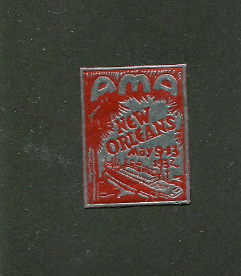 Vintage Poster Stamp Label NEW ORLEANS  1932 AMA Convention Riverboat  #W