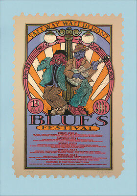 Waterfront Blues Festival 2006 Original Signed Silkscreen Concert Poster
