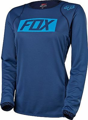 FOX RACING FLEXAIR DH Long Sleeve L S Jersey Navy -  84.95  56d712f23