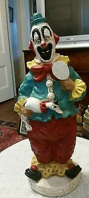 Kendrick Clown statue with duck plaster/chalk Universal Statuary Corp 1966