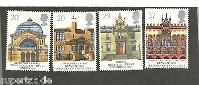 1990 Great Britain #1314-1317 MNH European City of Culture Europa stamps