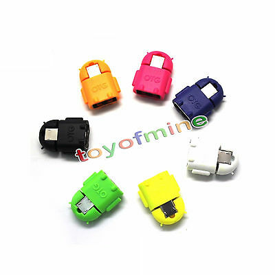 5x USB to Micro USB Adapter Android Robot OTG Converter Samsung Galaxy HTC Sony