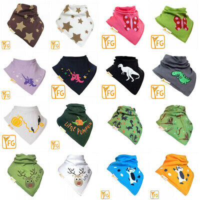 2 X Funky Giraffe Baby Toddler Bandana Bib 100% Cotton  Dribble Dry