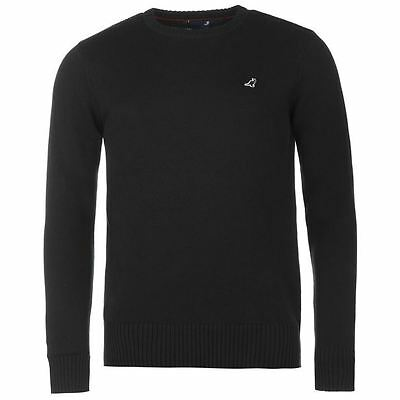 Kangol Mens Knitted Jumper Warm Ribbed Pullover Long Sleeve Crew Neck Top