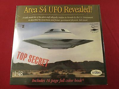 Area S4 Ufo Revealed ! 1:48 Scale Flying Saucer Model Factory Sealed Nm/mint