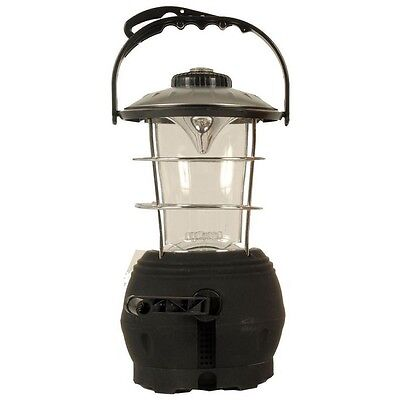 Wind-Up Rechargeable 12 Led Camping Lantern With Compass + 3 Light Settings